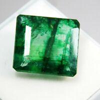 9 Ct CERTIFIED Free Ship! Square Natural Untreated Zambian Emerald Gemstone