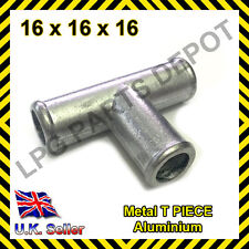 16x16x16 Metal T PIECE Air Water Fuel LPG Hose Pipe Tube Connector Joiner gas