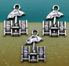 Mixed Set of 9 New BEACH / NAUTICAL Charms Tibet Silver Zinc Alloy ONE OF EACH
