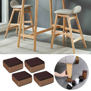 Set of 4 4 Pieces Multifunction Bed Risers Desk Sofa Feet Protector Support