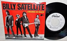1984 BILLY SATELLITE I WANNA GO BACK CAPITOL PROMO ROCK 45 & PICTURE SLEEVE NM