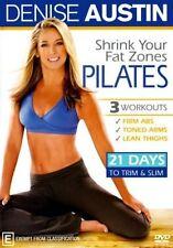 Denise Austin Shrink Your Fat Zones Pilates DVD 21 Days Slim Trim Workout