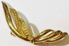 broche bijou vintage année 1970 déco couleur or en relief * 5187