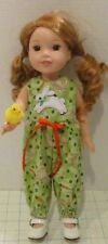 BUNNY ROMPER & BABY CHICK CLOTHES FOR AMERICAN GIRL DOLL WELLIE WISHERS 14.5""