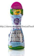 CRAYOLA Outdoor Colored Bubbles PURPLE PIZZAZZ Rubs Off Skin MESSY FUN 7.5 oz