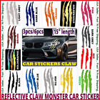Auto REFLECTIVE CAR HEADLIGHT MONSTER STICKERS Scratch Stripe Claw Vinyl Decals <br/> BEST SELLER❤️3-6PCS💥12 COLORS✅IN-STOCK✈️FREE SHIPPING