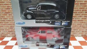 Die cast Volkswagen Beetle in 1:38 Scale by Welly only £9.99 Each