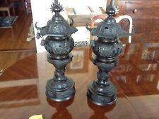 Japanese Meiji Bronze Lanterns