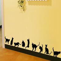 9 Gatos Extraíble Adhesivos De Pared Salón Hogar Niños Decoración Dormitorio