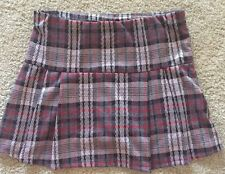 NEW Beautees Girls Skater Skirt Flared Stretchy Plaid Stretch Short Mini XL NWT