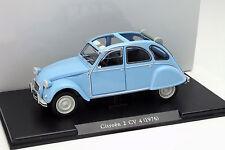 Citroen 2CV4 Année 1976 bleu clair 1:24 Leo Models