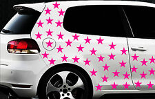 120x Sterne Star Auto Aufkleber Set Sticker Tuning Shirt Stylin Wandtattoo ribx3
