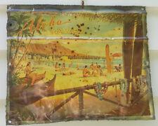 "Sign/plaque, tin, the iconic ""Aloha Hawaii"", bar/garage/man cave etc., decor"