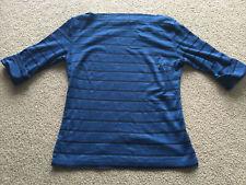 Blue Asphalt Top Womens Medium M Black Shimmery Stretch Tight Shirt 2000s