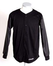 SCARCEWEAR PARA HOMBRE NEGRO PU Béisbol Jersey camisa de mangas largas Top Talla XS a XXL