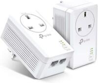 TP-Link TL-PA7027P KIT AV1000 2-Port Gigabit Passthrough Powerline Starter Kit