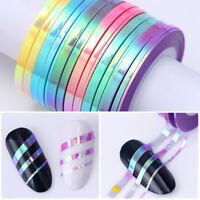 Nail Striping Tape Glitter Adhesive Stickers 1-3mm Nail Art Decoration Tips DIY