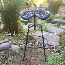 Cast Iron Tractor Seat Bar Stool Swivel Seat Adjustable Height Foot Rest RR $189