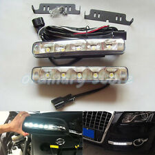 1 Pair Bright 5 LED 15W Car DRL Daytime Running Light Driving Fog Head Safe Lamp