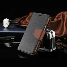 Galaxy Note 8 Genuine MERCURY Goospery Black with Brown Flip Case Wallet Cover