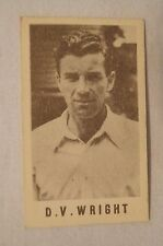 1940's Vintage G.J.Coles Cricket Card -  D.V.Wright - England