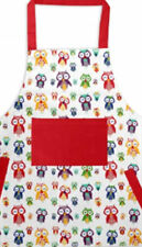 OWL FESTIVE CHRISTMAS KITCHEN APRON CHEF COOKING BAKING NOVELTY BBQ CRAFT