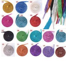 14 Colors Pearlized Glitter Shoelace Canvas Sneaker Flat Shoe Laces 1 Pair
