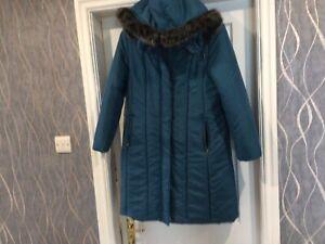 Fab FINESSE Long Fur Trimmed Hooded  Light  Padded Coat Jacket  Summer  Coat 14