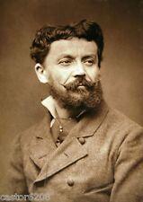 PHOTO ANCIENNE SALON 1883 PEINTRE Jules DELAUNAY 13,5x9,6