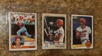 (3) Gary Gaetti 1983 Topps Fleer Donruss Rookie Card Lot Twins RC