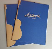 Larrivee Acoustic Guitars Summer Fall 2005 Sales Catalog Brochure 10-15 Pages