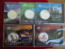 2011 RAM $1 1oz Silver, Capital Bridges Series,  Complete Set of 5 Coins, RARE!