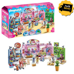 Playmobil City Life Shopping Plaza 9078 Little Girls Pretend Play Toy Gift Set