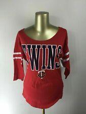 """NEW"" GENUINE MERCHANDISE Pullover Red MINNESOTA TWINS MLB Shirt Women's Size M"