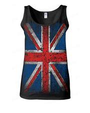 Union Jack vintage WOMAN TANK TOP distressed UK Flag ENGLAND Great Britain tee