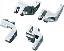 Kuryakyn Driver Floorboard Relocation Brackets for Harley Touring Chrome