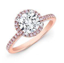 1.00TCW 100% Real Natural Round Diamond Certified Wedding Ring In 14k Rose Gold