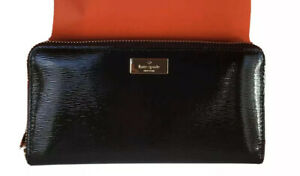 NWT Kate Spade New York Bixby Place Neda Black Patent Leather Wallet $189