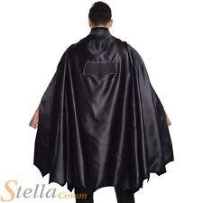 Adult Deluxe Batman Cape Mens Super Hero Halloween Fancy Dress Costume