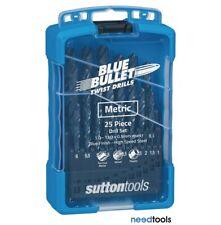 DRILL SET Metric 25 Piece 1-13mm x 0.5 rises Blue Bullet Drill Set Sutton Tools