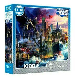 1000 Piece Jigsaw Puzzle Thomas Kinkade DC Justice League Showdown Gotham Pier