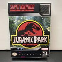 Jurassic Park-Authentic-Super Nintendo SNES Game-Tested+Plastic Retail Case
