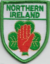 ulster northern ireland shamrock  embroidered patch red hand of ulster