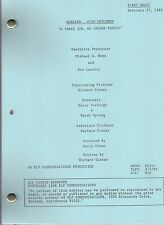 """MARRIED... WITH CHILDREN script """"A 3 Job, No Income """""""