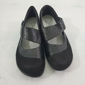 NAOT Aroha Black Mary Jane Comfort Cushioned Leather Upper Size 38 (7) Shoes