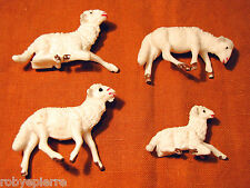 3 pecore sheeps 1 agnellino lamb agnello del presepe crib vintage made in italy