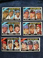 1966 TOPPS #217//225 LOT(6) LEAGUE LEADERS INK MARKS GOOD GROBEE1957 SET BREAK