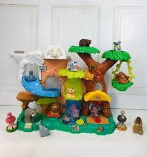 2011 Fisher-Price Little People Zoo Talkers Tree House Play Set 16 Animals Works