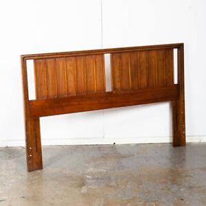 Mid Century Modern Headboard Queen Dixie Bed Frame Walnut Mcm Slat Wood Walnut