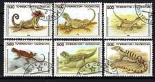 Animaux Reptiles Tadjikistan (178) série complète 6 timbres oblitérés